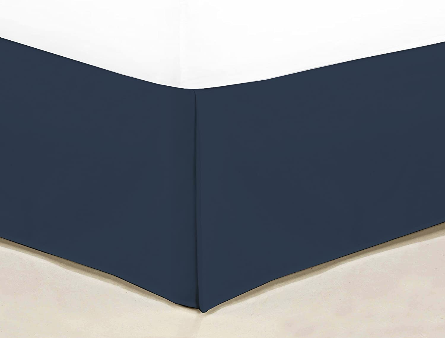 Sweet Home Collection 1500 Series Egyptian Quality Deep Pocket Bed Skirt/Dust Ruffle, Full, Navy