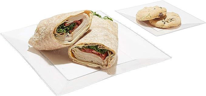 Amazon.com: Platos de postre desechables para cenas y ...