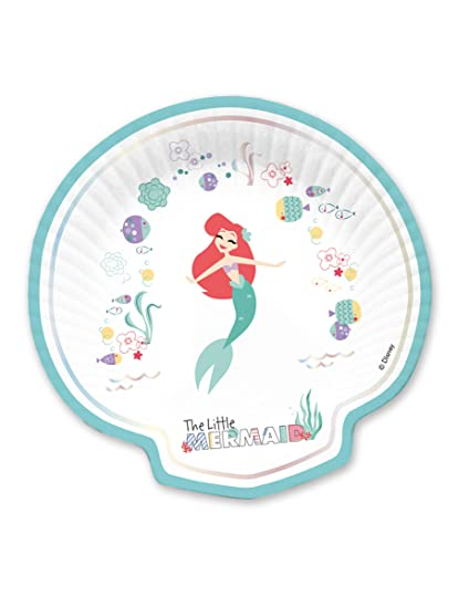 Juego de 3 Platos de cartón con Forma de Concha de Ariel de ...
