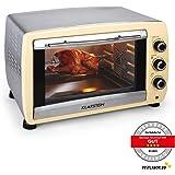 Klarstein Omnichef Mini four (45L, 2000W, régulateur température: max. 230 °C, nombreux accessoires : grill, tournebroche, moule à gâteau) - crème