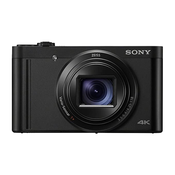 Sony DSC WX800 Cybershot 18.2MP Compact High Zoom Camera with 4K Recording  Black