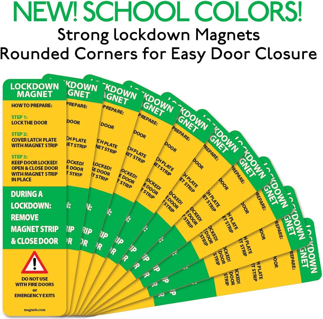 Black 100 New and Improved Lockdown Magnetic Strips for School Lockdowns Durable 40mil Magnetic Strip 100 Pack