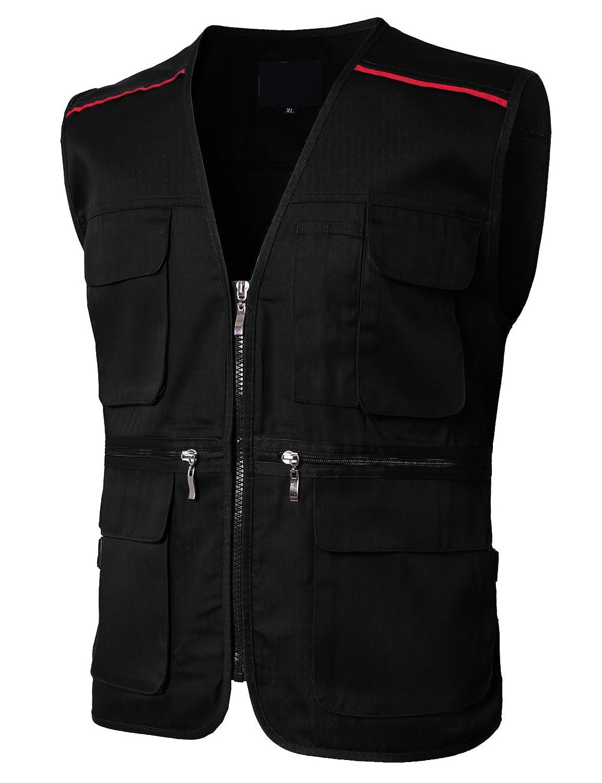 H2H Mens Casual Waterproof Multi-Pocket Outdoor Active Cargo Camping Vest #KMOV0143
