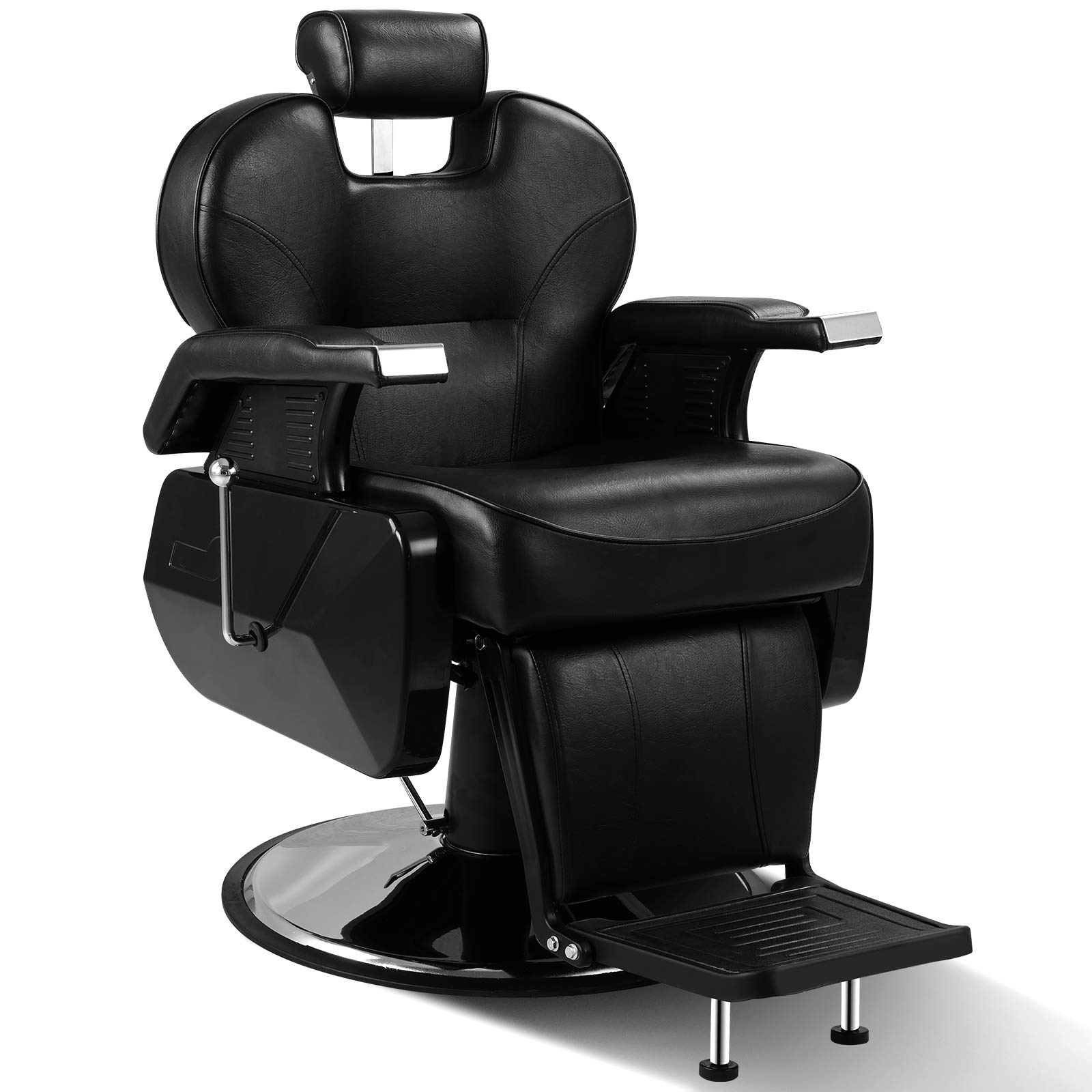ARTIST HAND Black All Purpose Hydraulic Recline Barber Chair Salon Beauty Spa Shampoo Styling Chair for Beauty Shop (1 PCS, Black) by Artist Hand