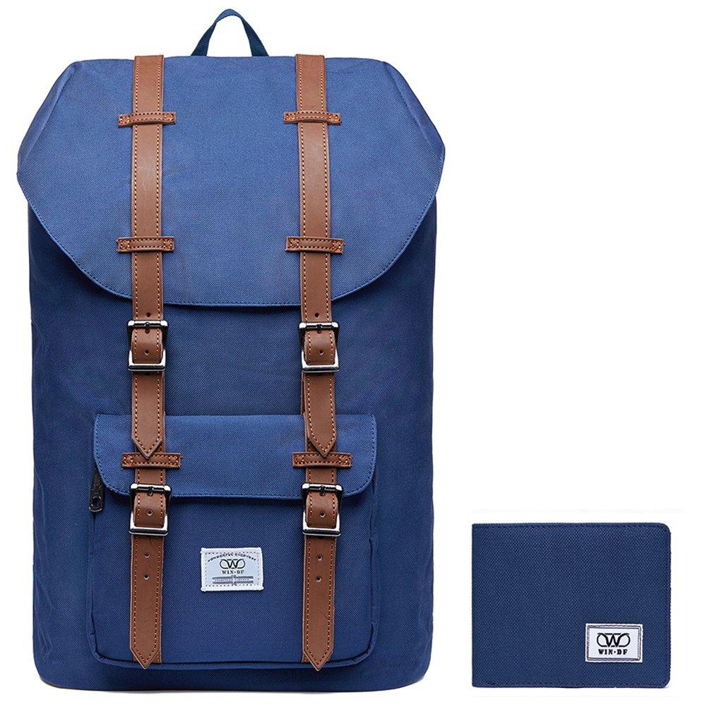 KAUKKO Zaino Multifunzionale per Escursionismo, Viaggi, porta Laptop (Blue)