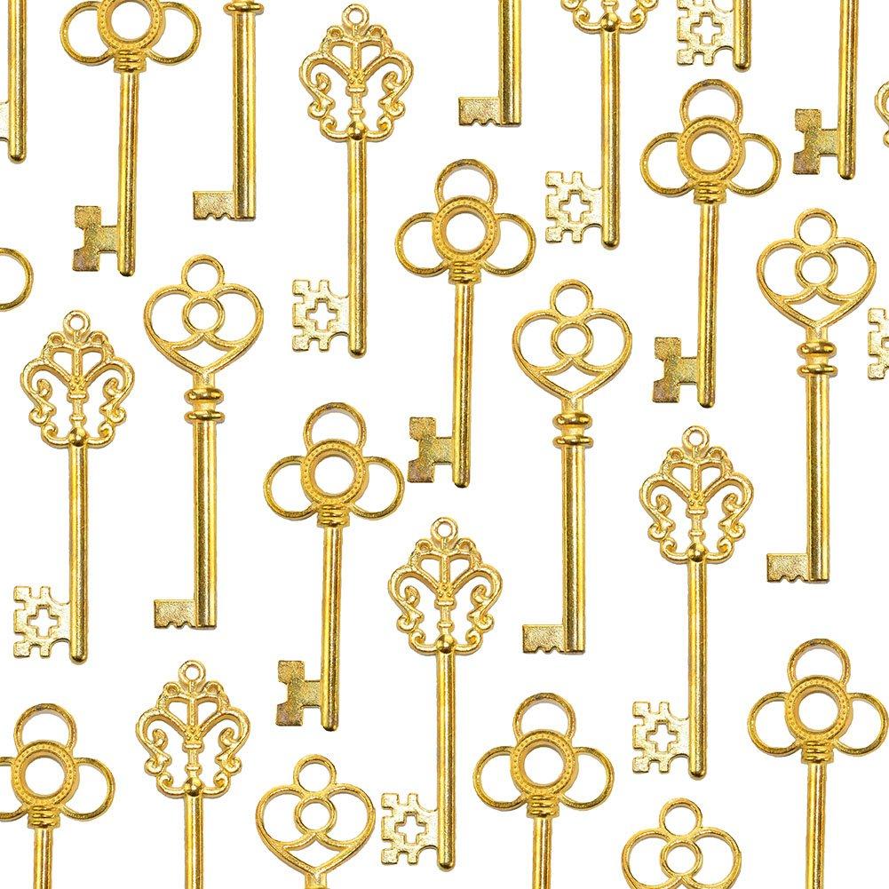 Amazon.com: Aokbean Mixed Set of 30 Vintage Skeleton Keys in Antique ...