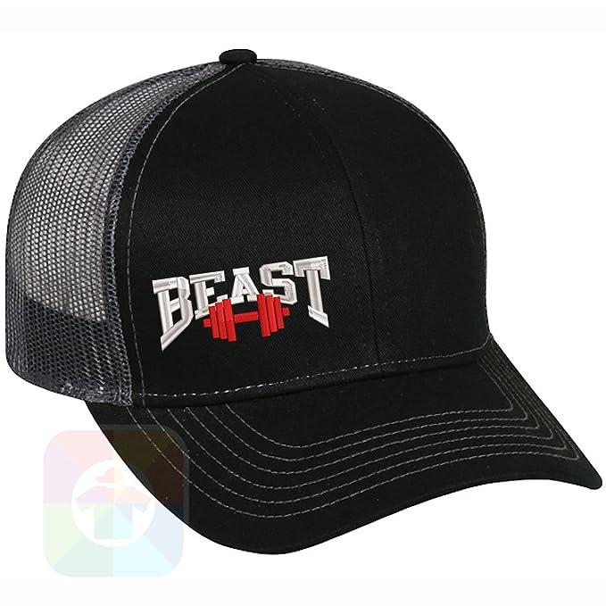 Custom Tshirts and Hats Beast Barbell Structured Snapback Baseball Mesh Hat  Cap  1209 at Amazon Men s Clothing store  11afae9a2b04