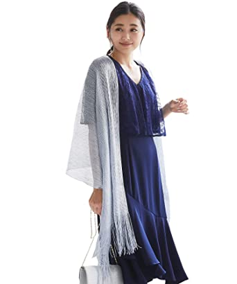48062968e5a38 ストール ショール 結婚式 羽織物 お呼ばれ 結婚式ボレロ blrhds01 (シルバー)