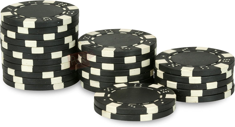 schwarz Rolle 25 Chips Dice