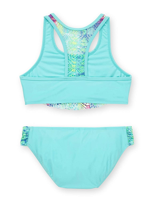 Wonder Nation Girls Remix Tie Dye Aqua Mint 2 Piece Bikini