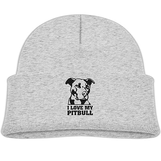 186f3aaab Amazon.com: Beanie Hats Wool Knit Caps I Love My Pitbull 2 Boys Girl ...
