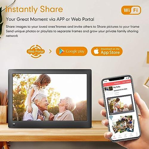 LOVCUBE Smart Digital Picture Frame,10 Inch WiFi Cloud Frame