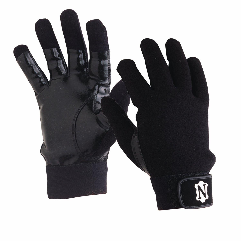 Black batting gloves - Amazon Com Adams Neumann Coaches Official S Gloves Black Baseball Batting Gloves Sports Outdoors