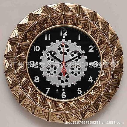 Reloj de pared creativa relojes antiguos, Relojes de engranaje teléfono cuelgue Chipset silencio cuando los