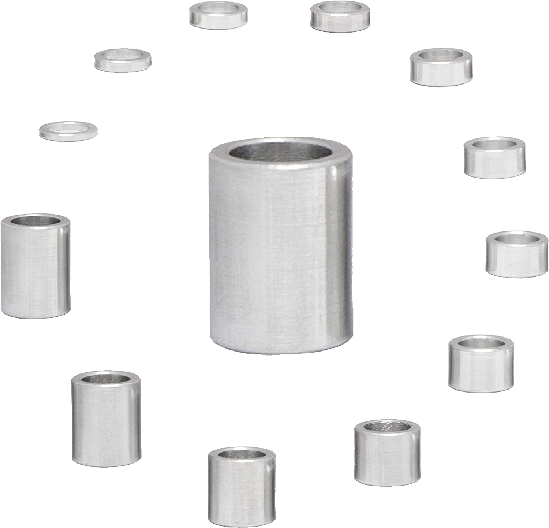 4 St/ück FASTON Aluminium Distanzh/ülsen M6 /Ø innen 6,5 mm Rohrbuchse H/ülsen Abstandsh/ülsen Distanzbuchsen Abstandsbuchsen Schildhalter /Ø Au/ßen 10 mm L/änge 8 mm