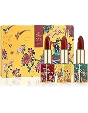 CATKIN X SUMMER PALACE Lipstick, Rouge Red Long Lasting Moisturizing Lip Stick Makeup - CO140 (3pcs Set)
