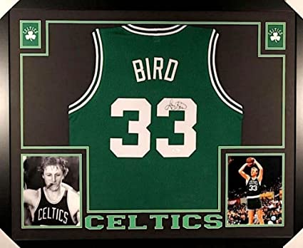 4516e6d354a Larry Bird Signed Boston Celtics 35x43 Custom Framed Jersey (JSA COA ...