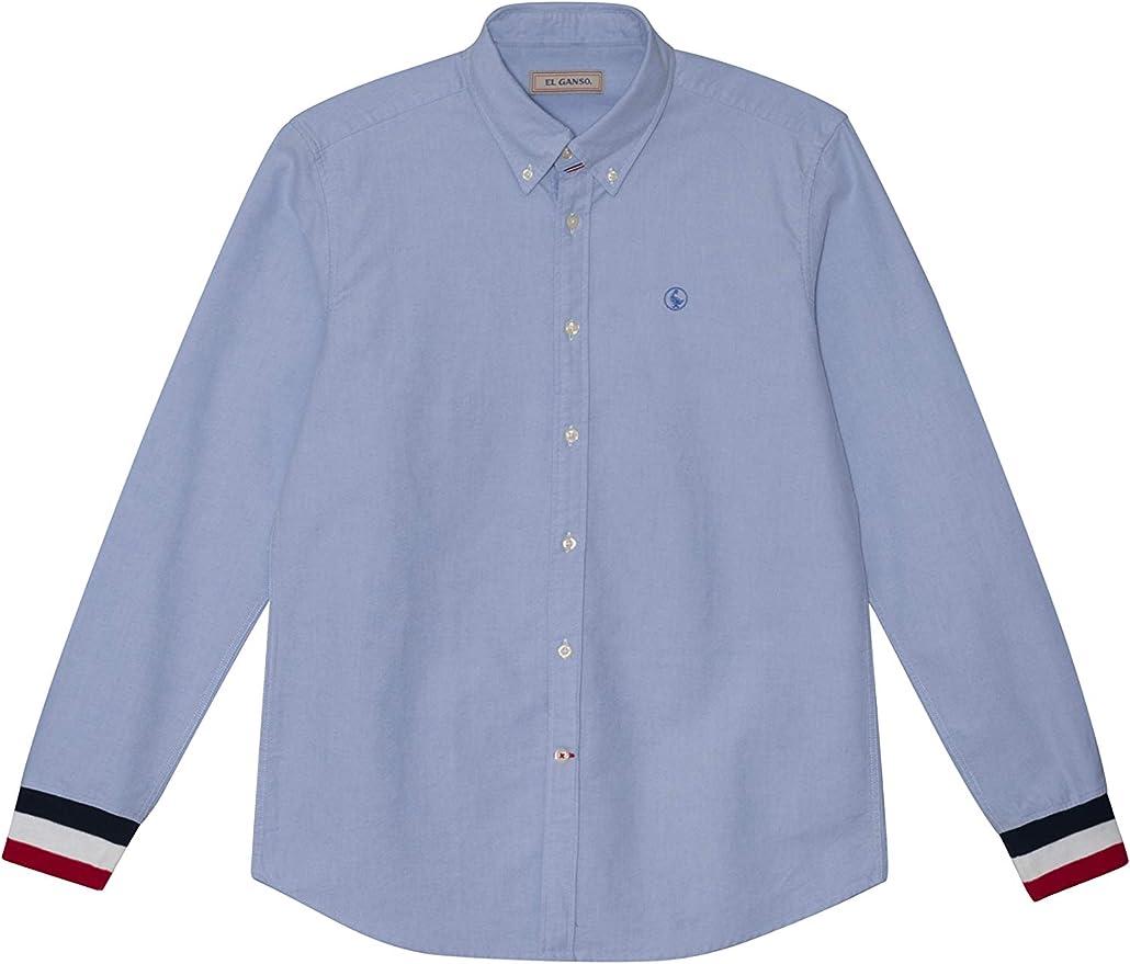El Ganso 1050S190019 Camisa Casual, Azul, M para Hombre: Amazon.es: Ropa y accesorios