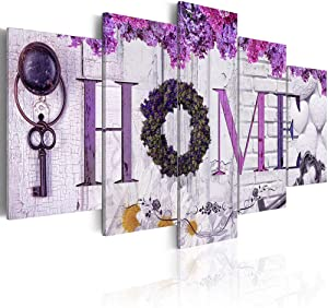 Inzlove Sweet Home Decor Wall Art Canvas Prints Paintings Abstract Purple Flower Artwork Bedroom Decoration Pictures