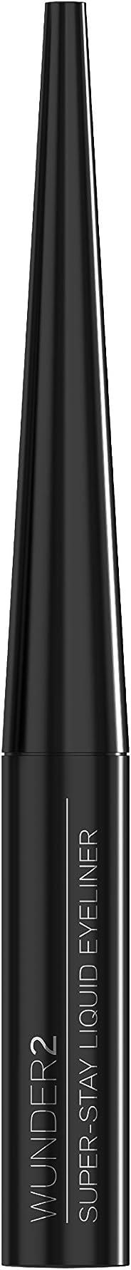 WUNDER2 Super Stay Long Lasting & Waterproof Liquid Eyeliner, 0.12 Fluid Ounce