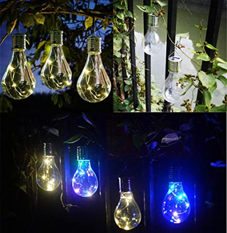 Waterproof Solar Rotatable Outdoor Garden Camping Hanging LED Light Lamp Bulb