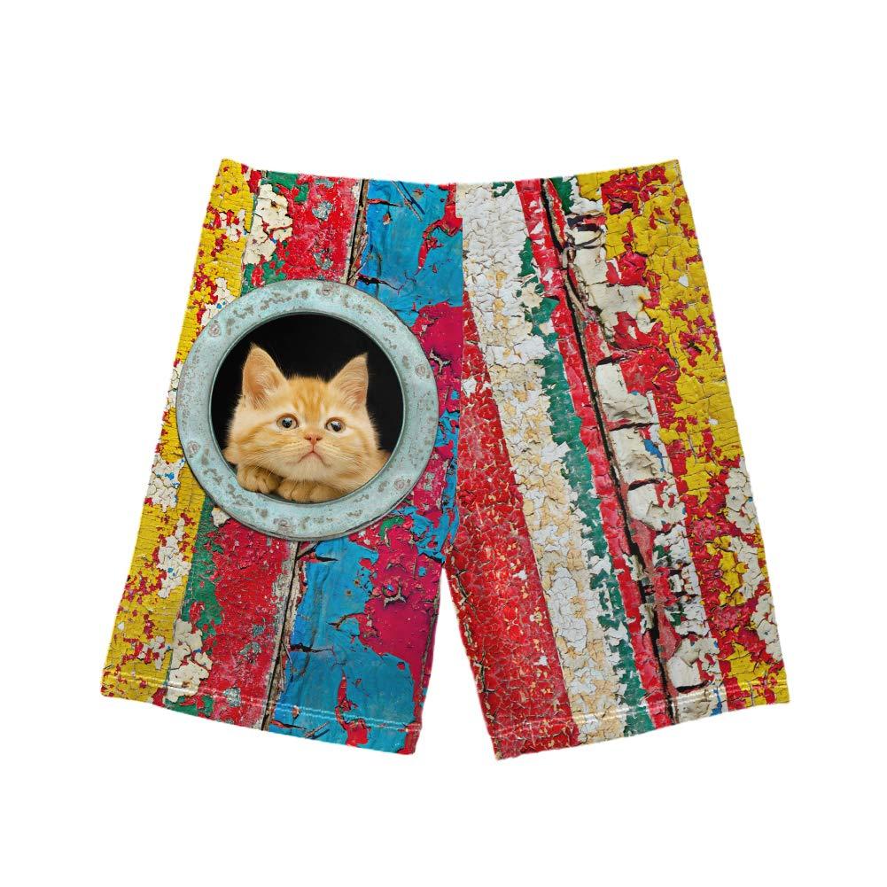 Freewander Boys Swim Trunks Summer Shorts Cute Animal Print Bathing Suit Teens Swimwear Size 5-14Y