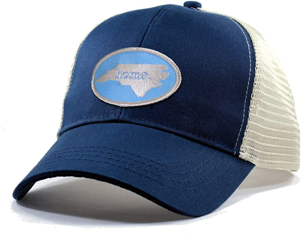 Homeland Tees Men's North Carolina Home State Trucker Hat with Carolina Blue Patch