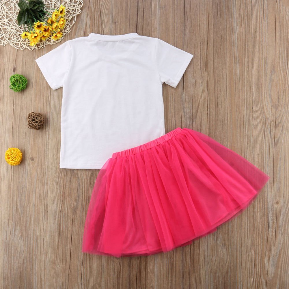 Toddler Baby Kid Girls Big Sister T-Shirt Top+Tutu Bow-Knot Skirt Clothing Set