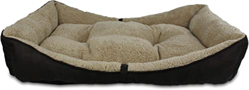 ALL FOR PAWS Lambswool Bolster Pet Bed