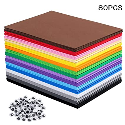 Eva Foam Sheets Great For Craft Projects With Kids Diy Projects Classroom Parties And More 80 Sheets 16 Colors 8 25 X 5 8 Inches