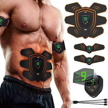 Pour homme et femme Stimulation des abdominaux /Équipement d/'entra/înement portable pour utiliser /à la maison ou au bureau Ceinture EMS d/'entra/înement musculaire bras et jambes