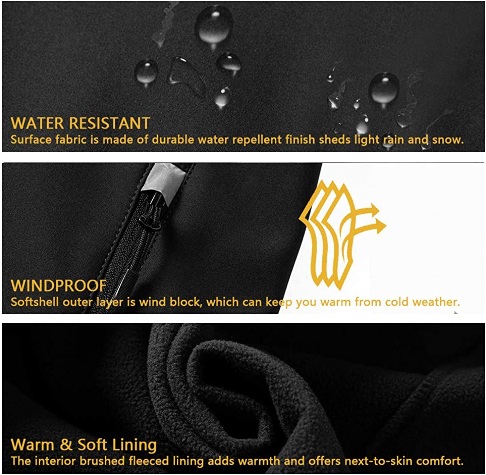 Women's Softshell Jacket with Removable Hood, Fleece Lined Waterproof Windproof Outdoor Cycling Hiking Coat at  Women's Coats Shop