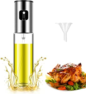 Olive Oil Sprayer for Cooking, Olive Oil Sprayer Mister , Oil Sprayer Food-Grade Portable and Oil Spray Bottle with Funnel for BBQ/Kitchen/Salad, Barbecue Kit