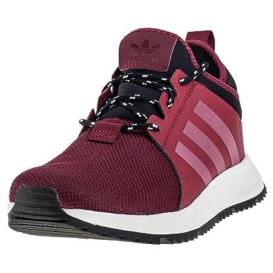 burgundy adidas trainers