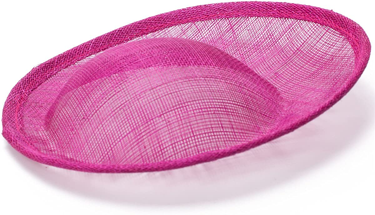 Lawliet 7.9 Round Saucer Sinamay Inspired Percher Hat Fascinator Millinery Base B063