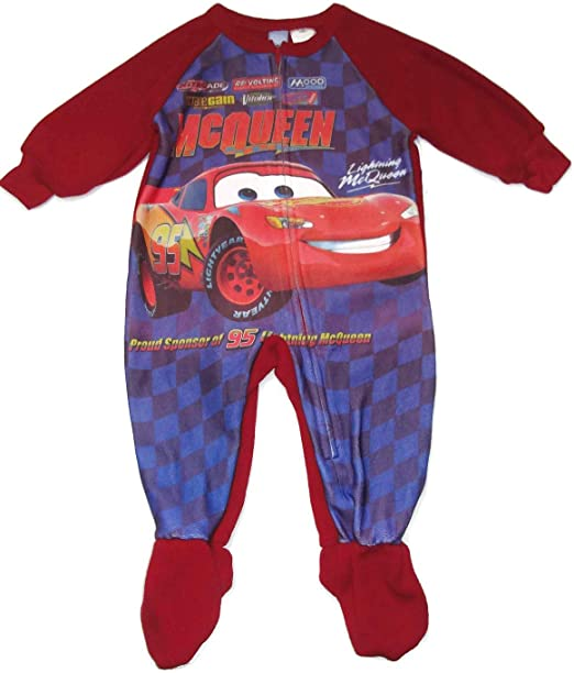 Disney Cars Boys 12 Months Lighting McQueen Footed Pajama Sleeper