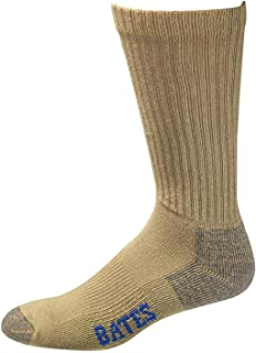product image for Bates Men's Cotton Comfort Crew Socks, Army Brown, L