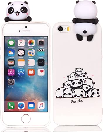 HopMore Cover iPhone 5S / SE / 5 Silicone Disegni 3D Divertenti Fantasia Gomma Morbido Custodia iPhone SE / 5S Antiurto Protettiva Slim TPU Case ...