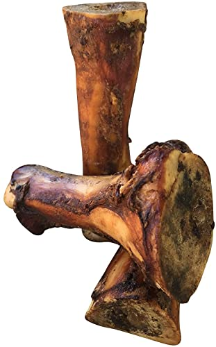 K9 Connoisseur Single Ingredient Dog Bones Made in USA for Large Breed Aggressive Chewers Natural Long Lasting Meaty Mammoth Marrow Filled Bone Chew Treats Best for Dogs Over 50 LBS