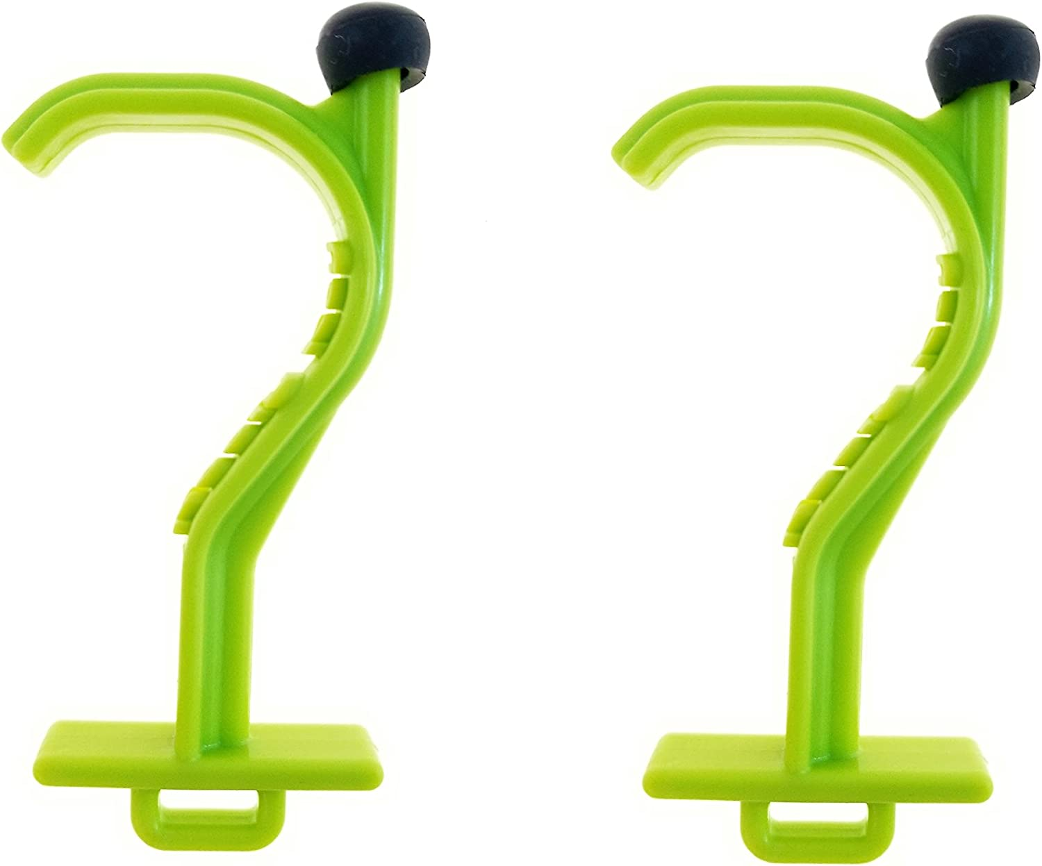 Kooty Key Germ Utility Tool Carabiner Included Avoid Touching Bacteria Ridden Surfaces 2 Pack, Green Colors May Vary