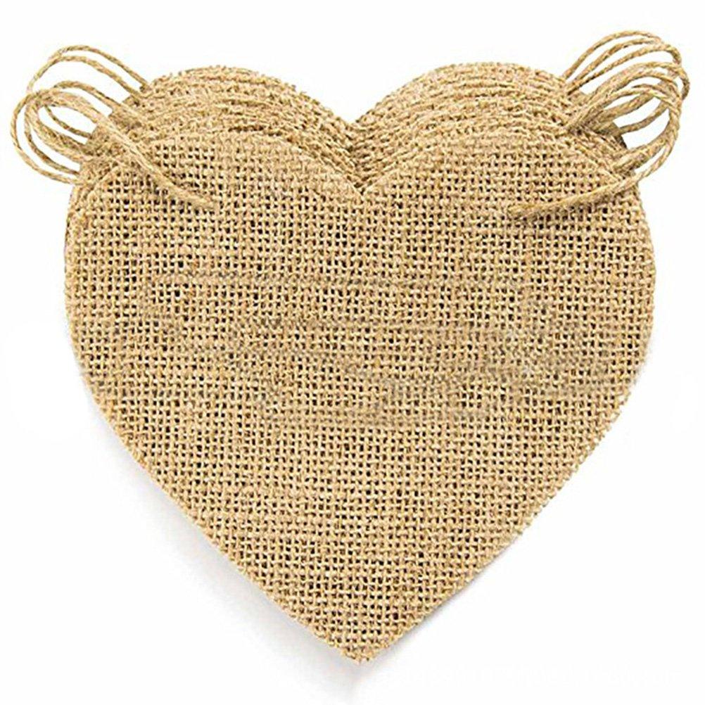 Tinksky Amour coeur toile de jute banni/ère bricolage Bunting banni/ère guirlande vide pour le mariage Saint-Valentin anniversaire b/éb/é douche Party Decor
