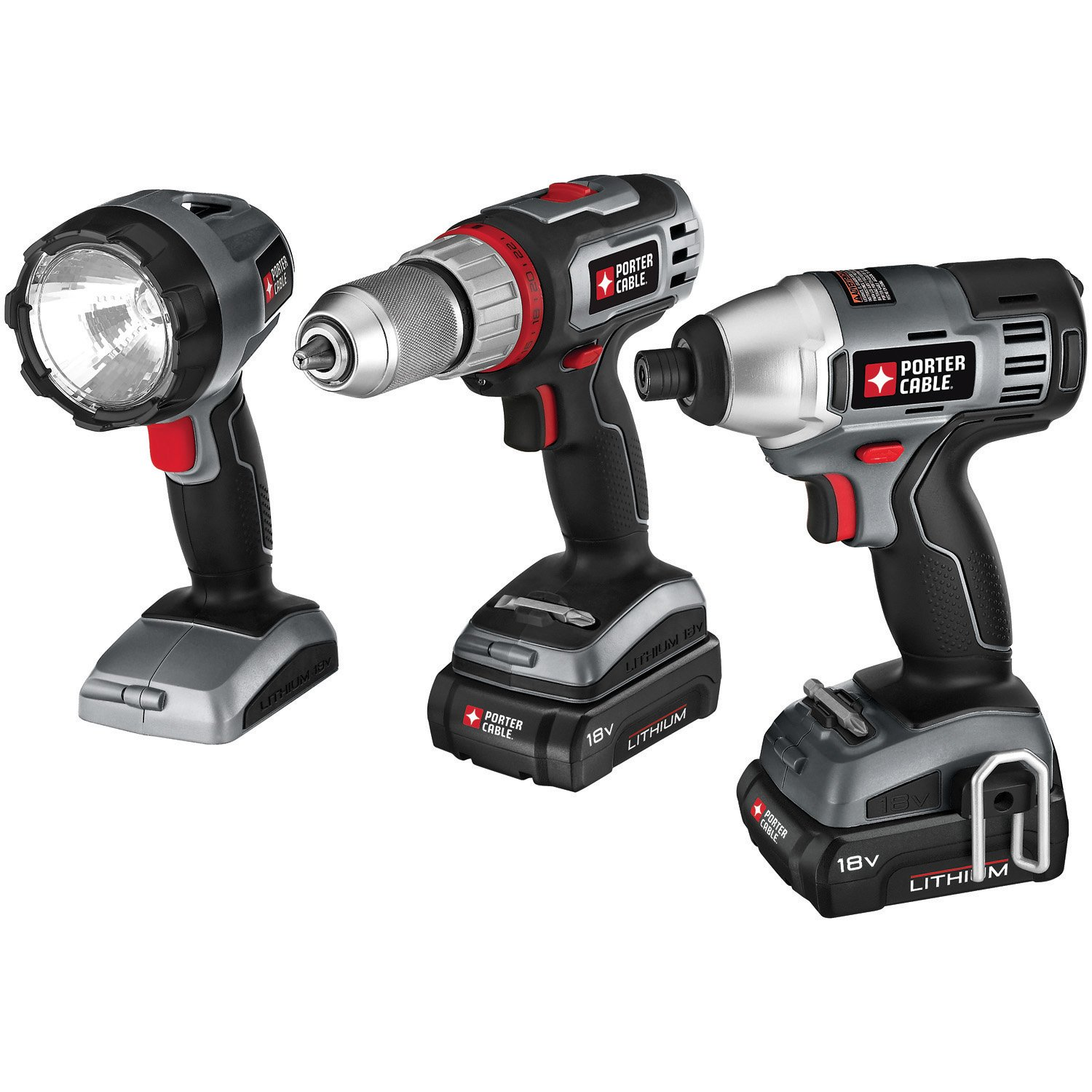 porter cable power tools. porter-cable pcl318idc-2 18-volt lithium-ion cordless 3-piece combo kit - power tool packs amazon.com porter cable tools