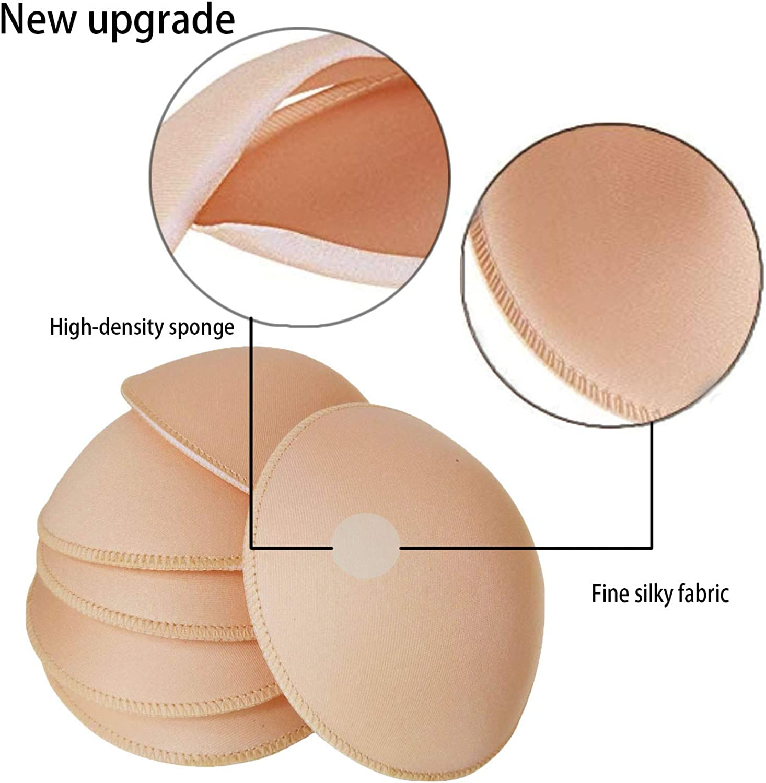 UGThome Update and Upgrade 3 pairs Round Sew Women Sports Yoga Bikini Top Bra Pad Insert
