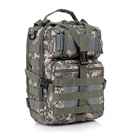 5bb6bfd7116d Amazon.com : LOVOUS Military Molle Assault Pack Tactical Sling ...
