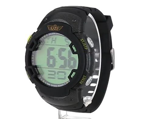 Amazon.com: Uzi Mens Uzi-89-R The Guardian Black Rubber Strap Watch: Watches