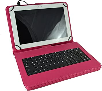 Theoutlettablet® Funda con Teclado en español (Incluye Letra Ñ) para Tablet Lenovo Tab 2 A10-30 X30F 10.1