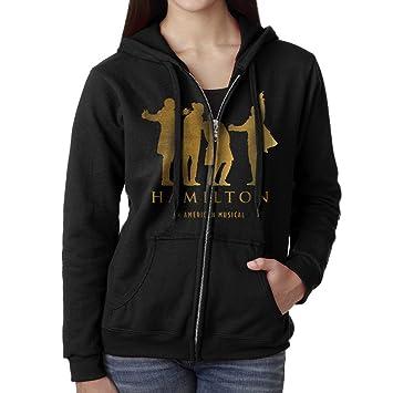 Amazon.com : KOBT Women's Musicals Hamilton Zip-Up Hooded ...