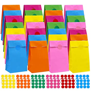 Amazon.com: Coobey - Bolsas de papel kraft (60 unidades, con ...
