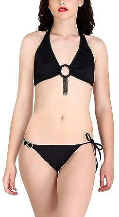 c2f0bb617c4 Lola Dola Women s Blended Padded Bra Panty Bikini Lingerie Set (Free Size)