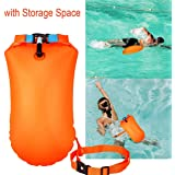 Garberiel 20L Swim Buoy Waterproof Float Dry Bag with Storage Space Inflatable Roll Top Dry Compression Sack Keeps Gear for Open Water Swimming Training Boating Kayaking Fishing Rafting and Camping